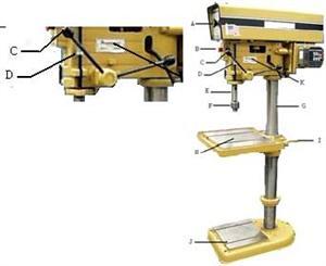 drill press parts. identify part \ drill press parts