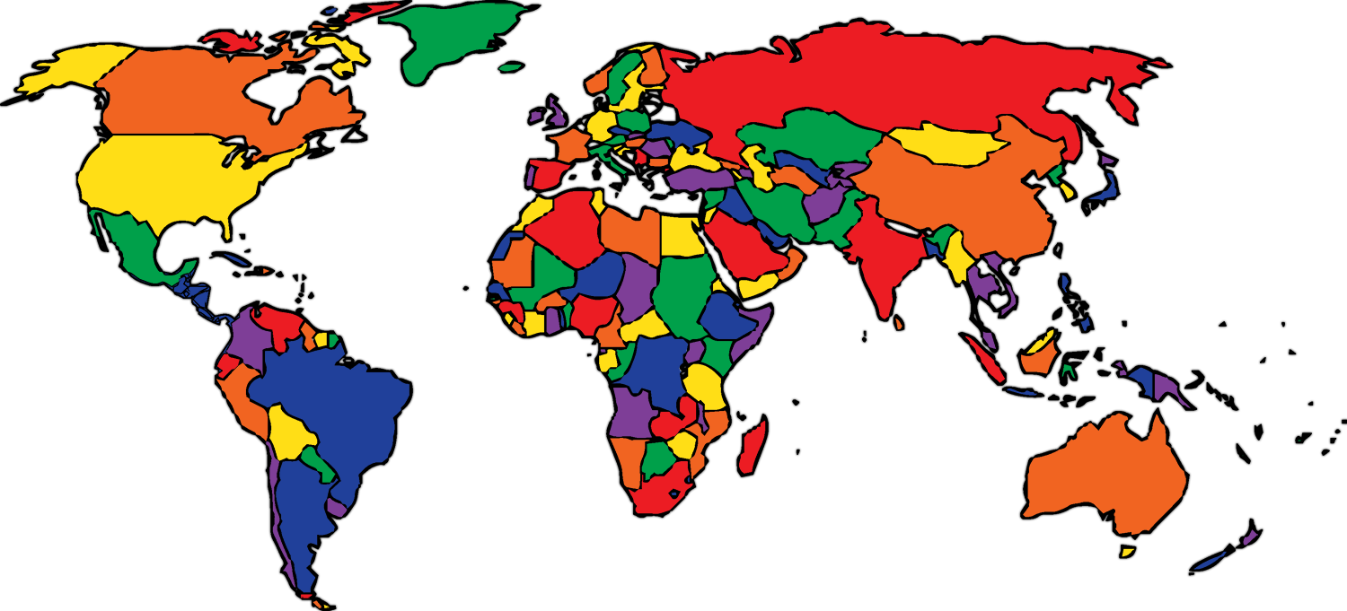 World Map Color 8 Wisc Online Oer