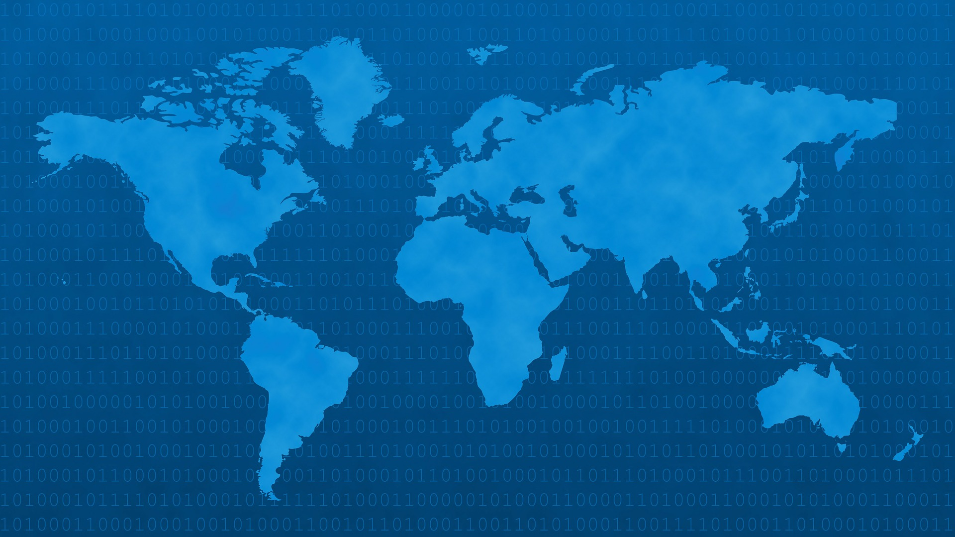 World Map Blue WiscOnline OER - World map in blue color
