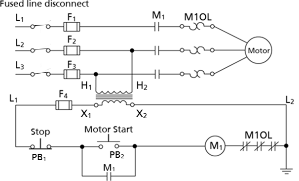delta electric motor wiring diagrams    motor    starter control circuit labeled wisc online oer     motor    starter control circuit labeled wisc online oer