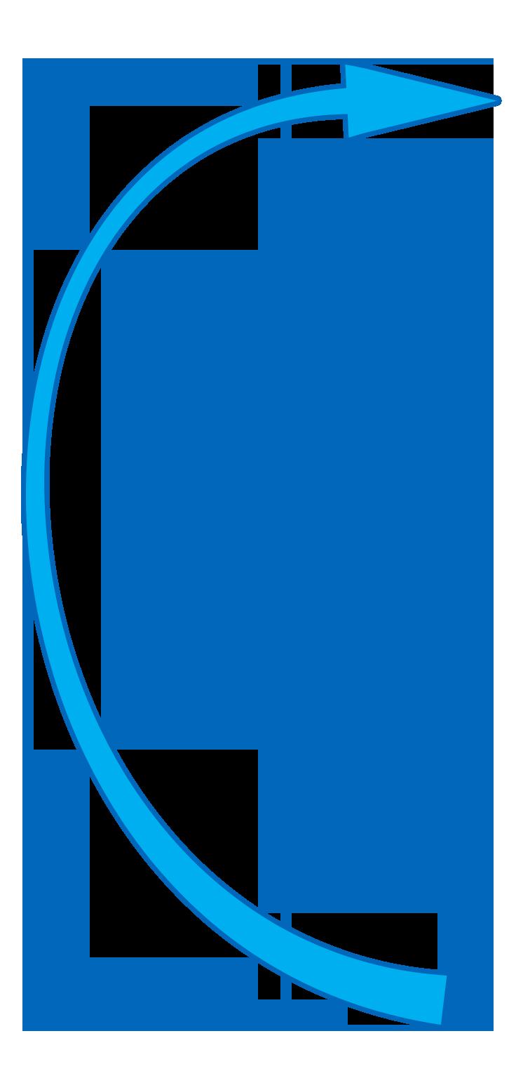 Blue Curved Arrow - Wisc-Online OER