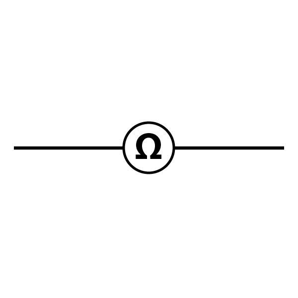 Ohmmeter Schematic Symbol with White Background - Wisc-Online OER on