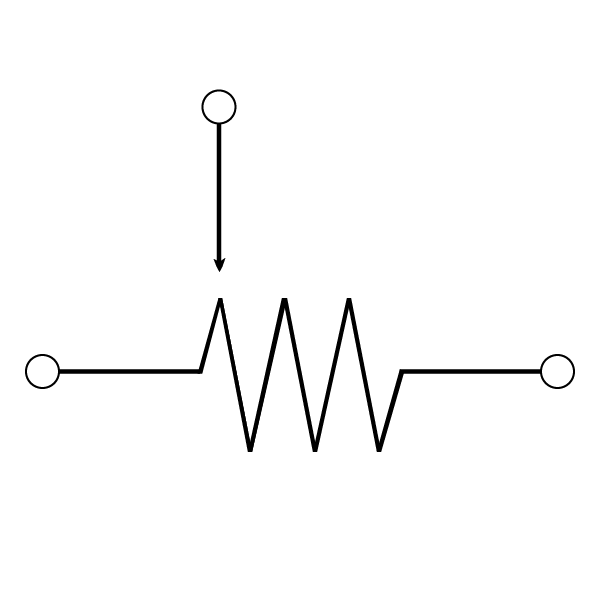 Potentiometer Schematic Symbol With White Background Wisc Online Oer
