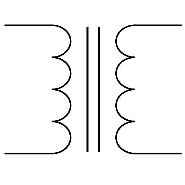 Transformer Schematic Symbol With White Background Wisc Online Oer