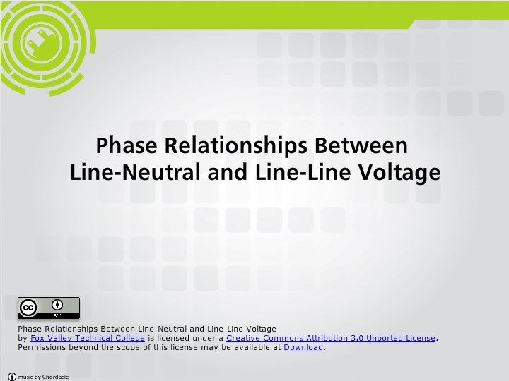 Phase Relationships Between Line Neutral And Line Line