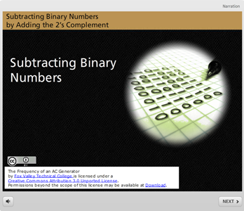 Subtraction of binary numbers online