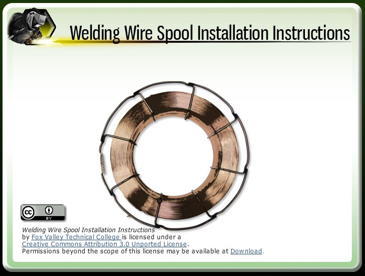 Welding Wire Spool Installation Instructions - Wisc-Online OER