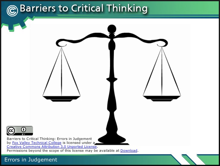 barriers of critical thinking There are many barriers that may influence critical thinking one barrier that influences my critical thinking is an over reliance on my personal feelings when it comes to certain discussions, my personal feelings often get in the way.