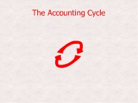 Finance The Accounting Cycle
