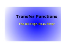 Science, Technology, Engineering & Mathematics Transfer Functions: The RC High Pass Filter