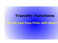 Science, Technology, Engineering & Mathematics The Transfer Functions: RC Low-Pass Filter with a Bode Plot