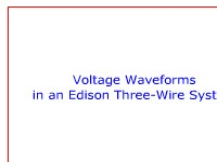 Science, Technology, Engineering & Mathematics Voltage Waveforms in an Edison Three-Wire System