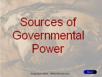 Political Science Sources of Government Power