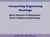 Business Management & Administration Basic Elements of Dimensions Used in Engineering Drawings