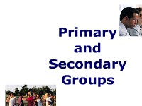 sociology assignment on primary and secondary groups What are the differences between primary group and secondary group members of a primary group but in a secondary group the face-to comte to sociology.