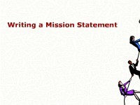 Business Management & Administration Writing a Mission Statement