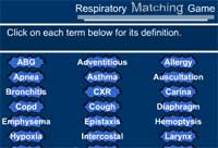 Health Science Respiratory Matching Game