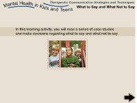 Health Science Mental Health in Kids and Teens