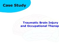 Health Science Traumatic Brain Injury and Occupational Therapy