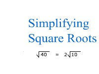 Mathematics Simplifying Square Roots