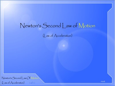 Physics Newton's Second Law of Motion