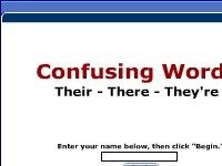 Linguistics Confusing Words -- Their, There, They're