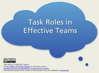 Manufacturing Task Roles in Effective Teams