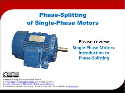 Science, Technology, Engineering & Mathematics Phase-Splitting of Single-Phase Motors