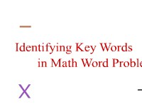 Mathematics Identifying Key Words in Math Problems